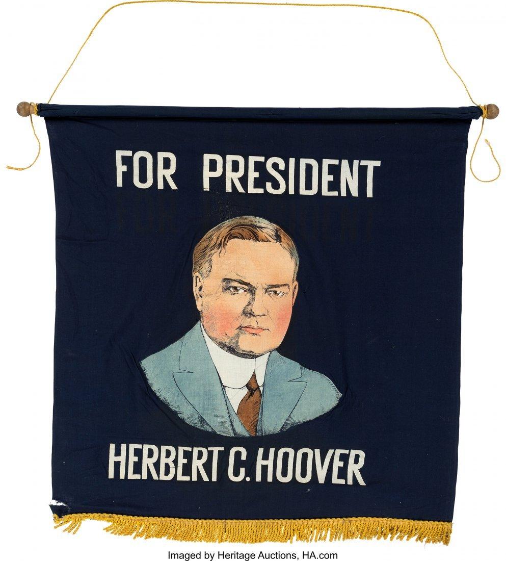 43571: Herbert Hoover: Colorful Silkscreen Portrait Ban