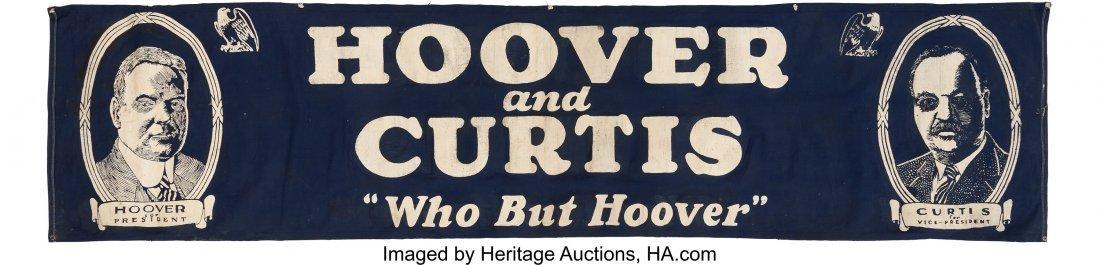 43572: Hoover & Curtis: Huge Jugate Street Banner. 27.5