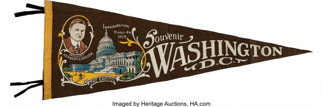 43574: Herbert Hoover: Inauguration Portrait Pennant. C