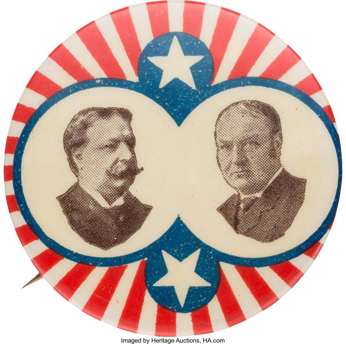 43485: Taft & Sherman: Minty Stars & Stripes Jugate by
