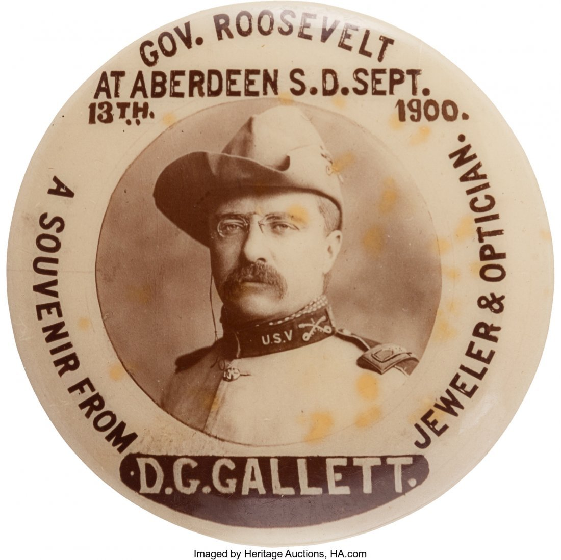 43452: Theodore Roosevelt: Real Photo Rough Rider Reuni
