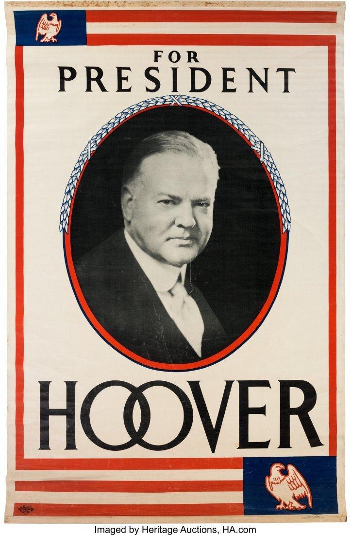 43588: Herbert Hoover: Large Headquarters Portrait Bann