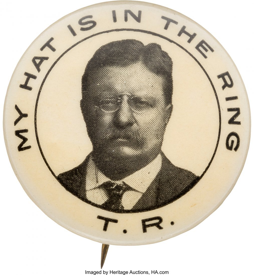"""43457: Theodore Roosevelt: Classic """"Hat in the Ring"""" Pi"""