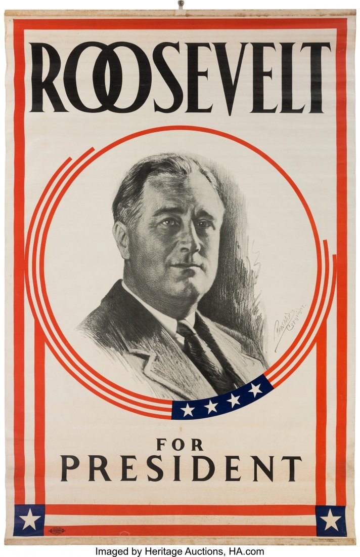 43589: Franklin D. Roosevelt: 1932 Headquarters Portrai