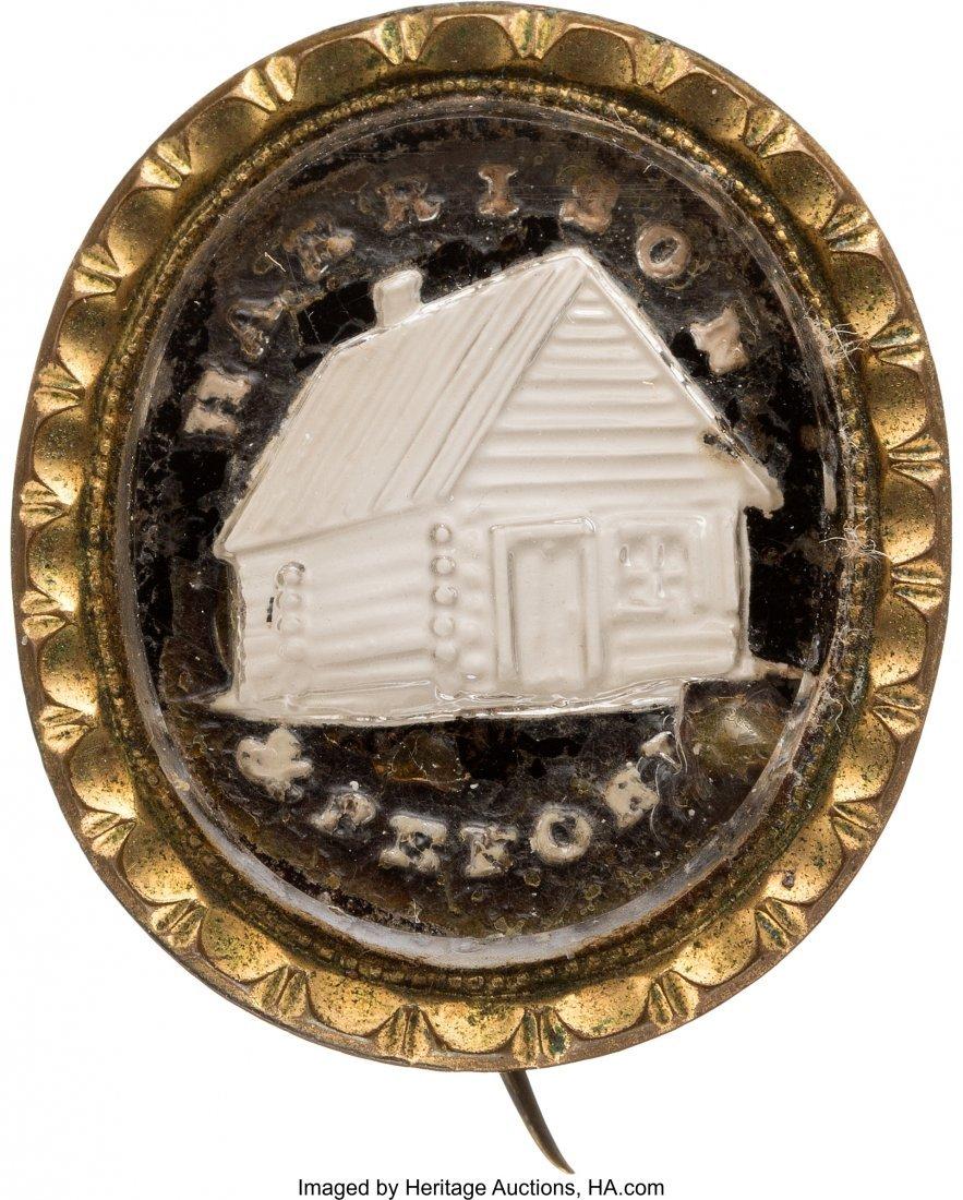 43073: William Henry Harrison: Oval Sulphide Brooch. 7/