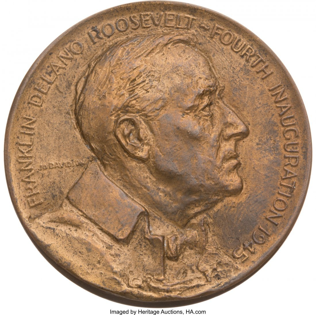 43590: Franklin D. Roosevelt: 1945 Official Inaugural M