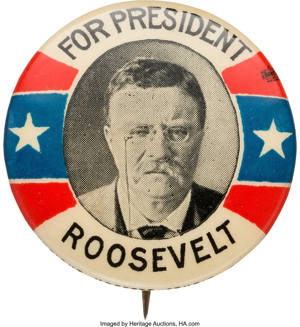 43458: Theodore Roosevelt: Tough 1912 or 1916 Picture P
