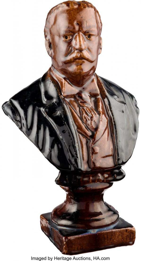 43500: William Howard Taft: Beautifully Glazed Solid Re