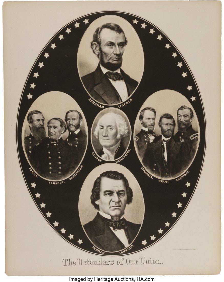 "43170: Lincoln & Johnson: Affordable Jugate Print.  19"""