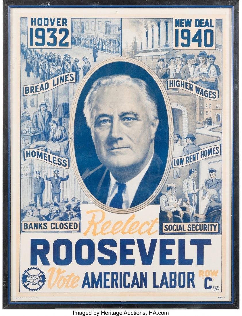 43591: Franklin D. Roosevelt: 1940 Re-Elect Roosevelt V