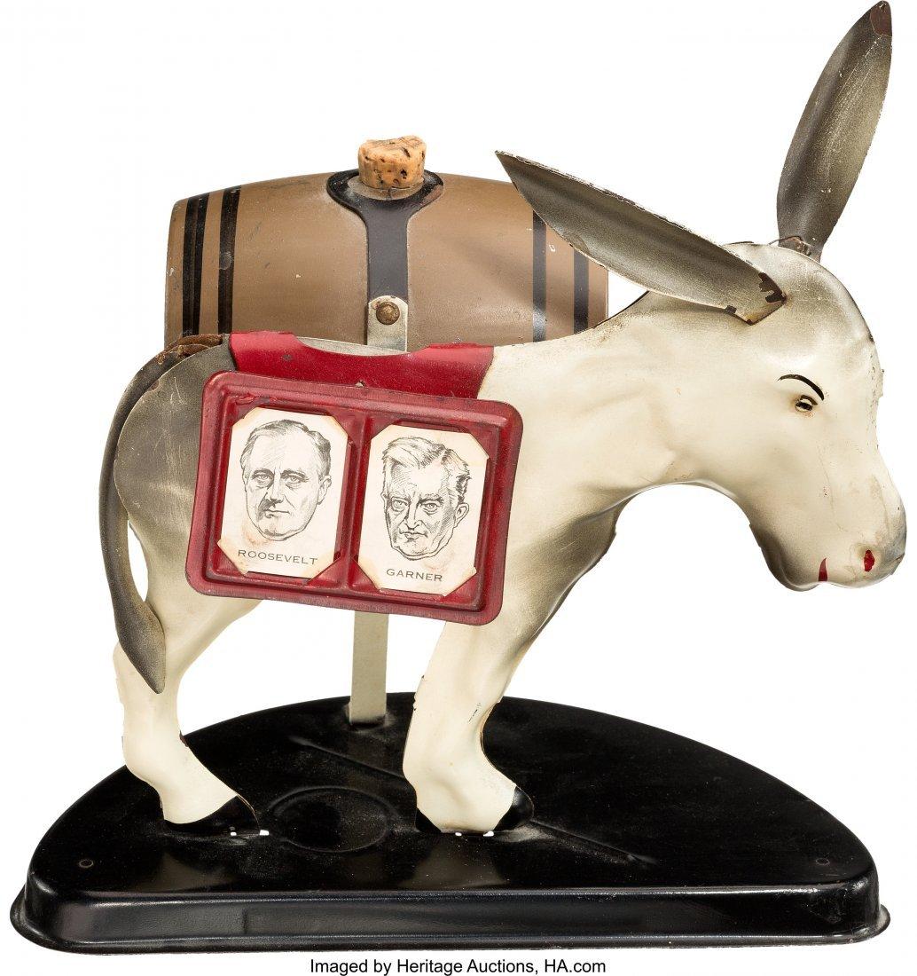 43592: Roosevelt & Garner: Pro-Repeal Jugate Donkey Boo