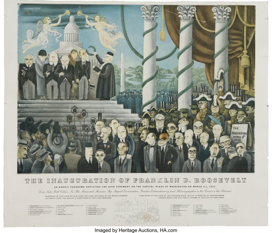 43597: Franklin D. Roosevelt: 1933 Inauguration Print b