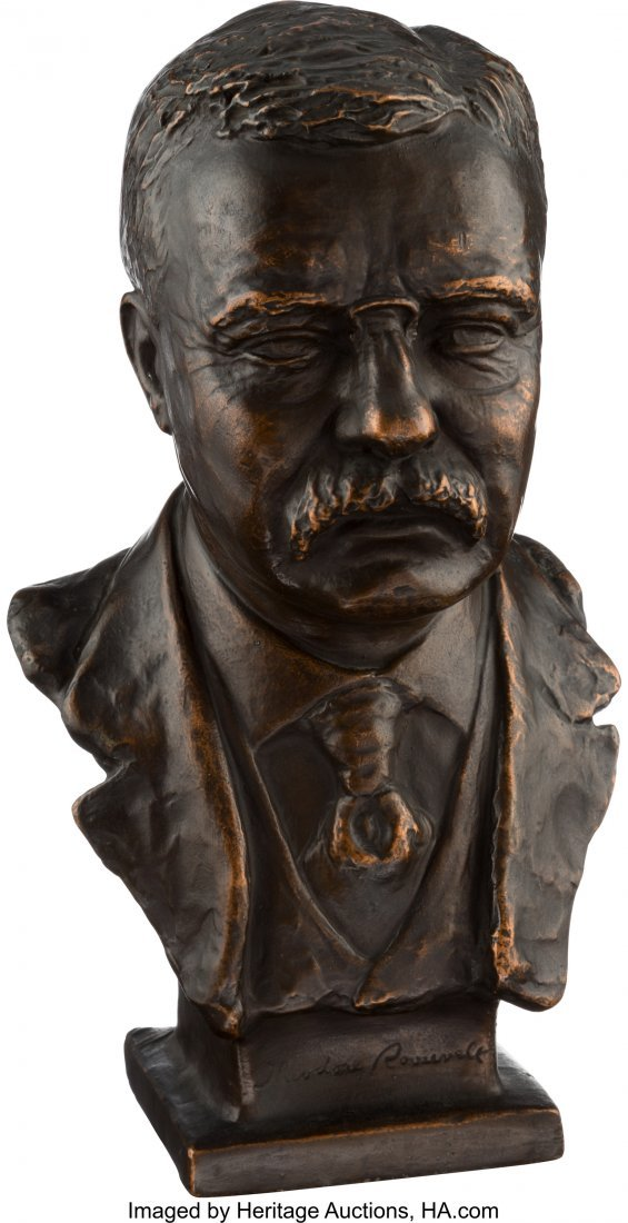 43464: Theodore Roosevelt: Copper or Bronze Bust by May