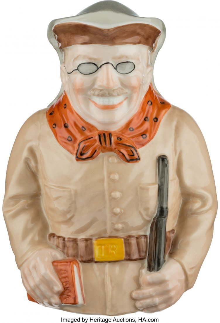 43465: Theodore Roosevelt: Ceramic Toby Pitcher or Mug