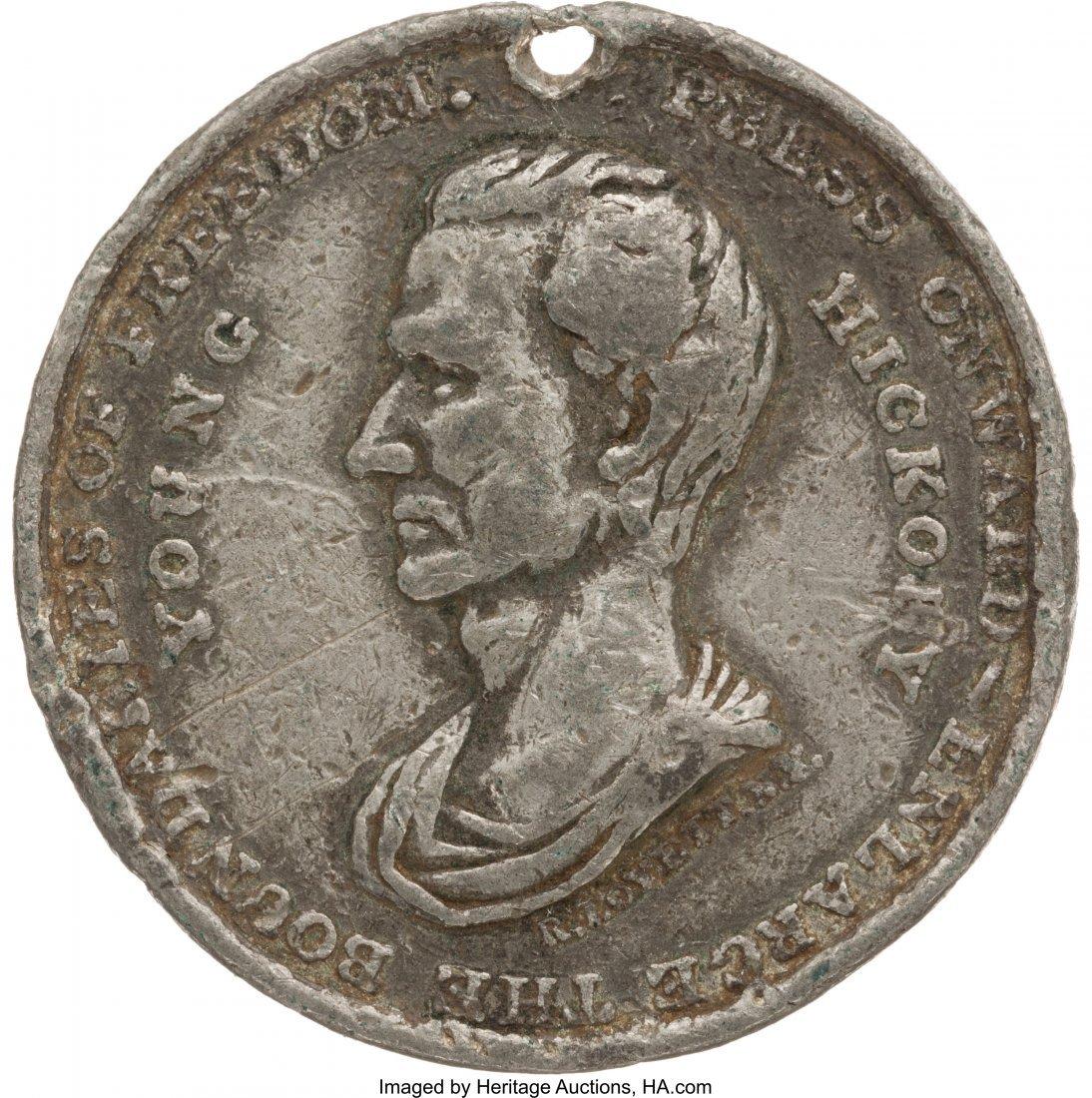 43081: James K. Polk: Large & Rare Campaign Medal. JP-1