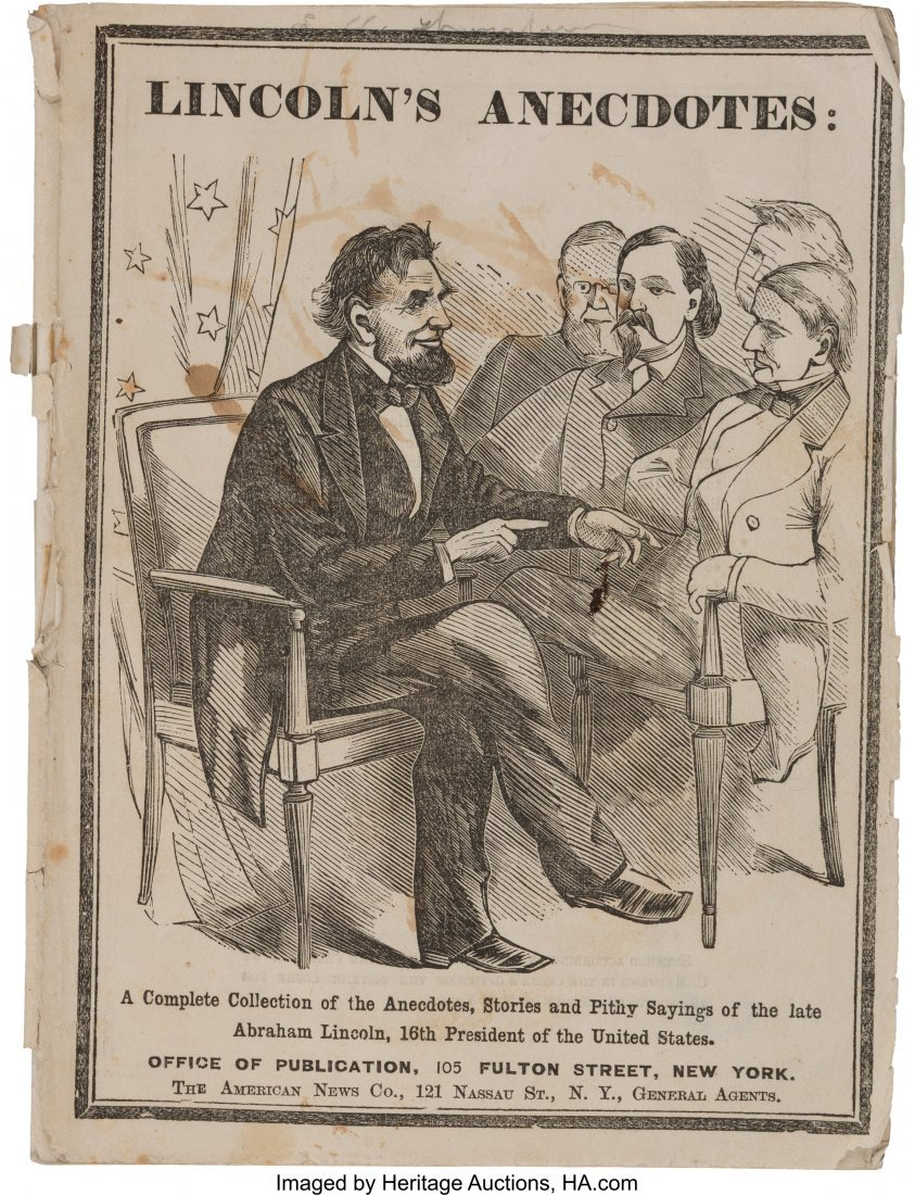 43178: Abraham Lincoln: Excessively Rare Joke Book in P