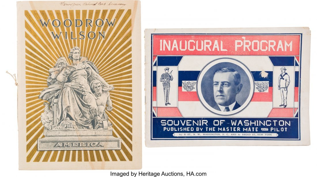 43512: Woodrow Wilson: 1913 and 1917 Inauguration Progr