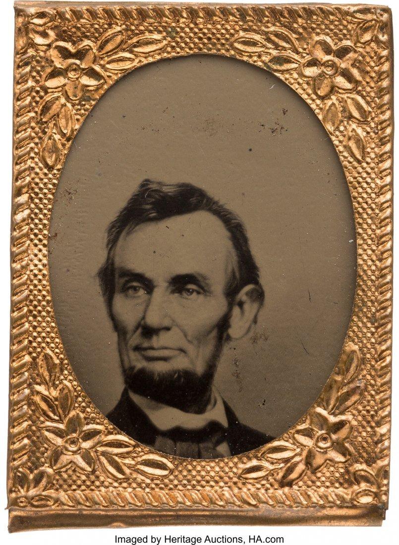 43179: Abraham Lincoln: Gem Ferrotype Badge in Choice C