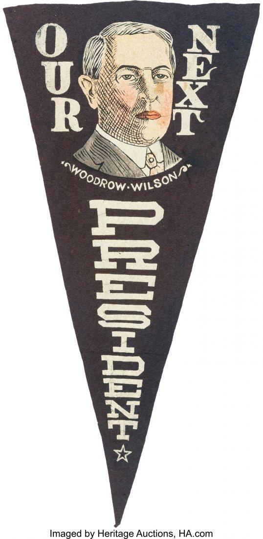 43515: Woodrow Wilson: Unusual Multicolored Portrait Pe