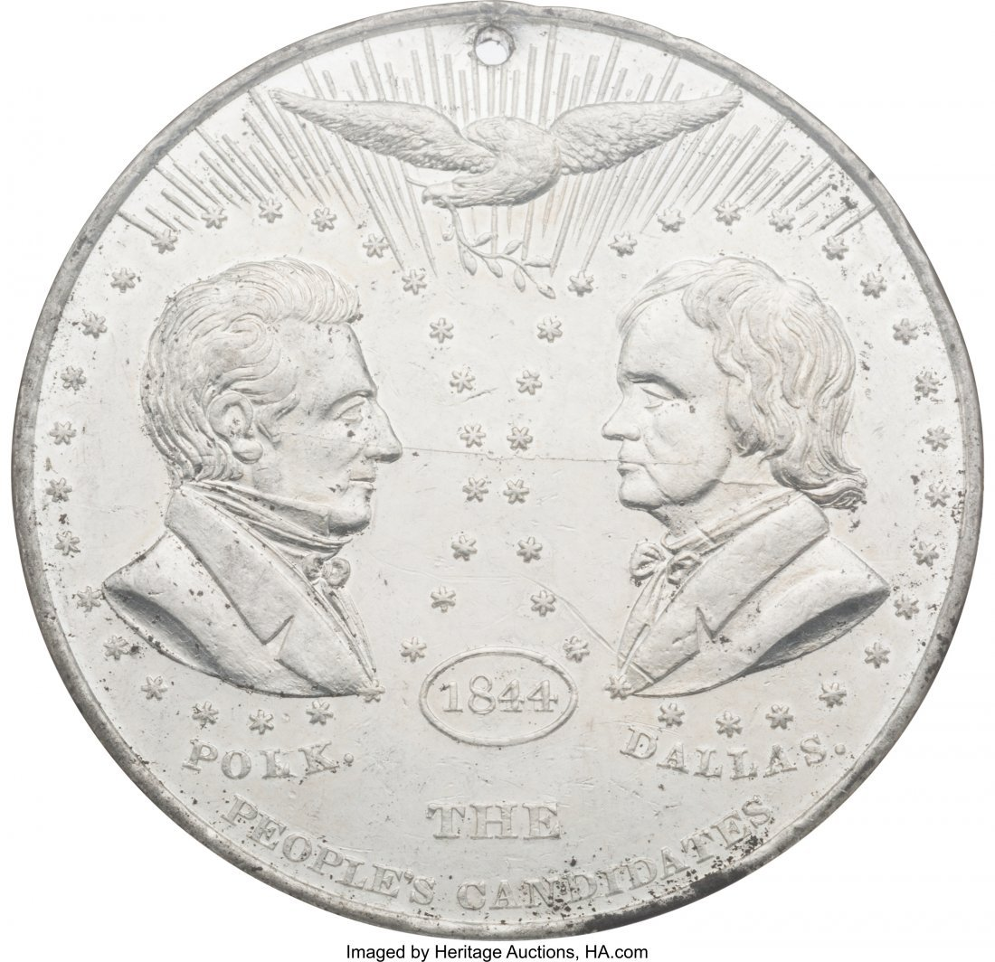 43085: Polk & Dallas: Large DeWitt #1 Jugate Medal by W
