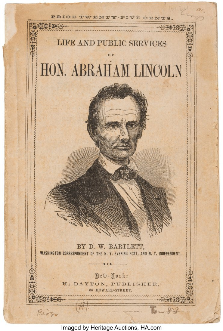43181: Abraham Lincoln: 1860 Campaign Biography in Pict