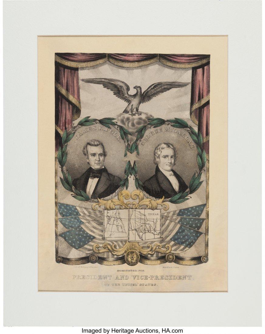 43086: Polk & Dallas: Jugate Grand National Banner with