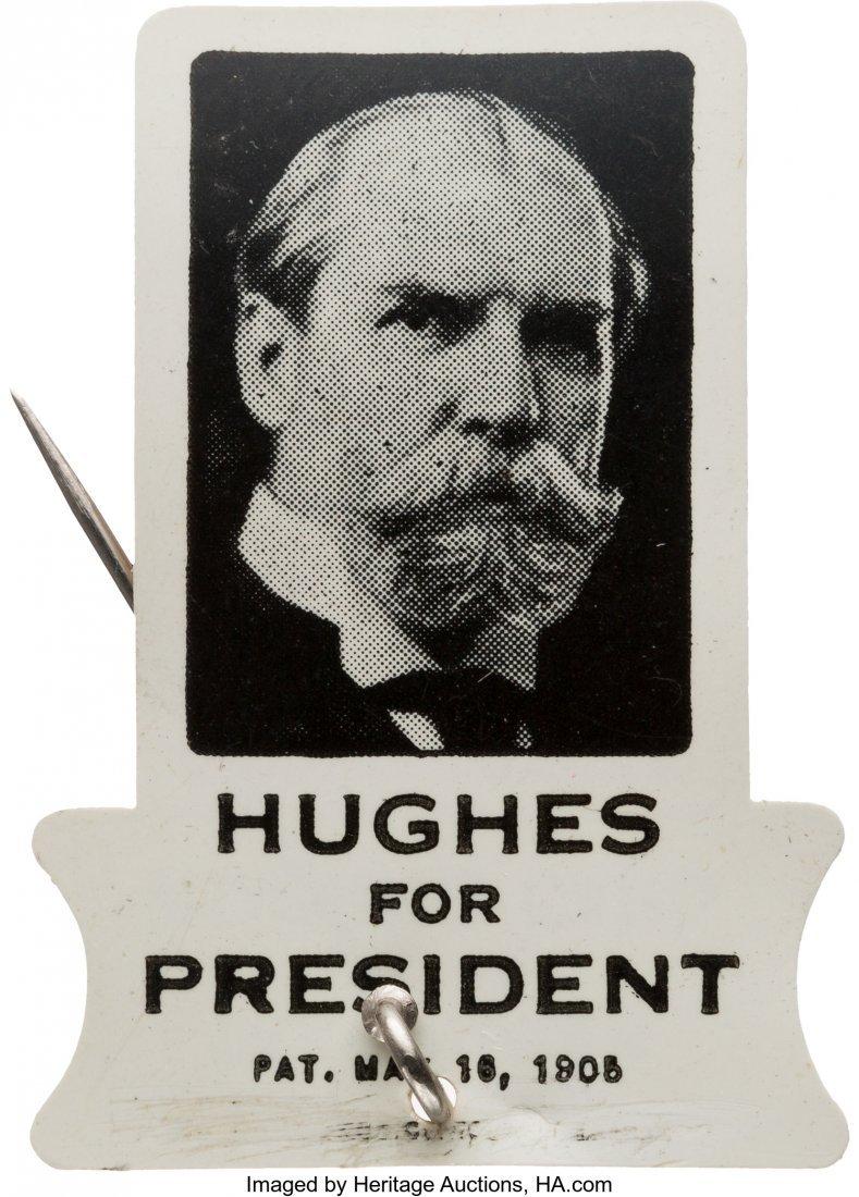 43521: Charles Evan Hughes: Flip-Card Celluloid Stickpi