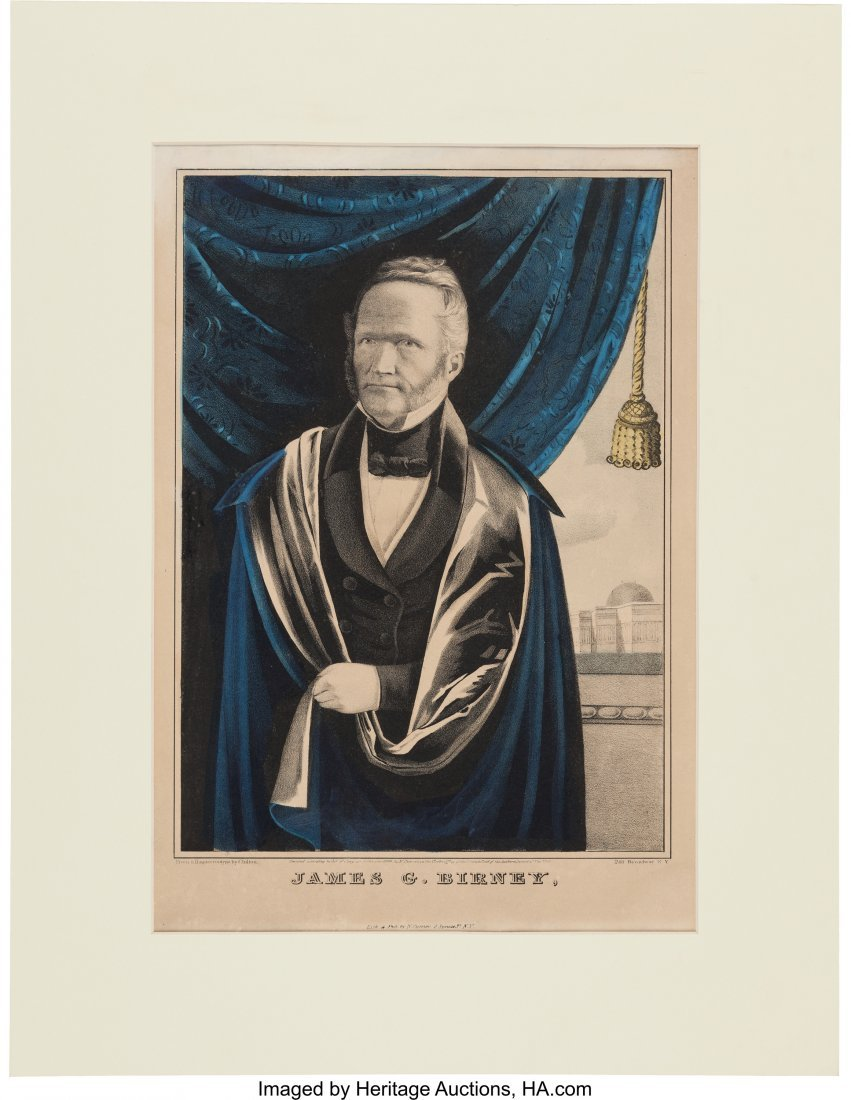 43089: James G. Birney: 1844 Liberty Party Currier Prin