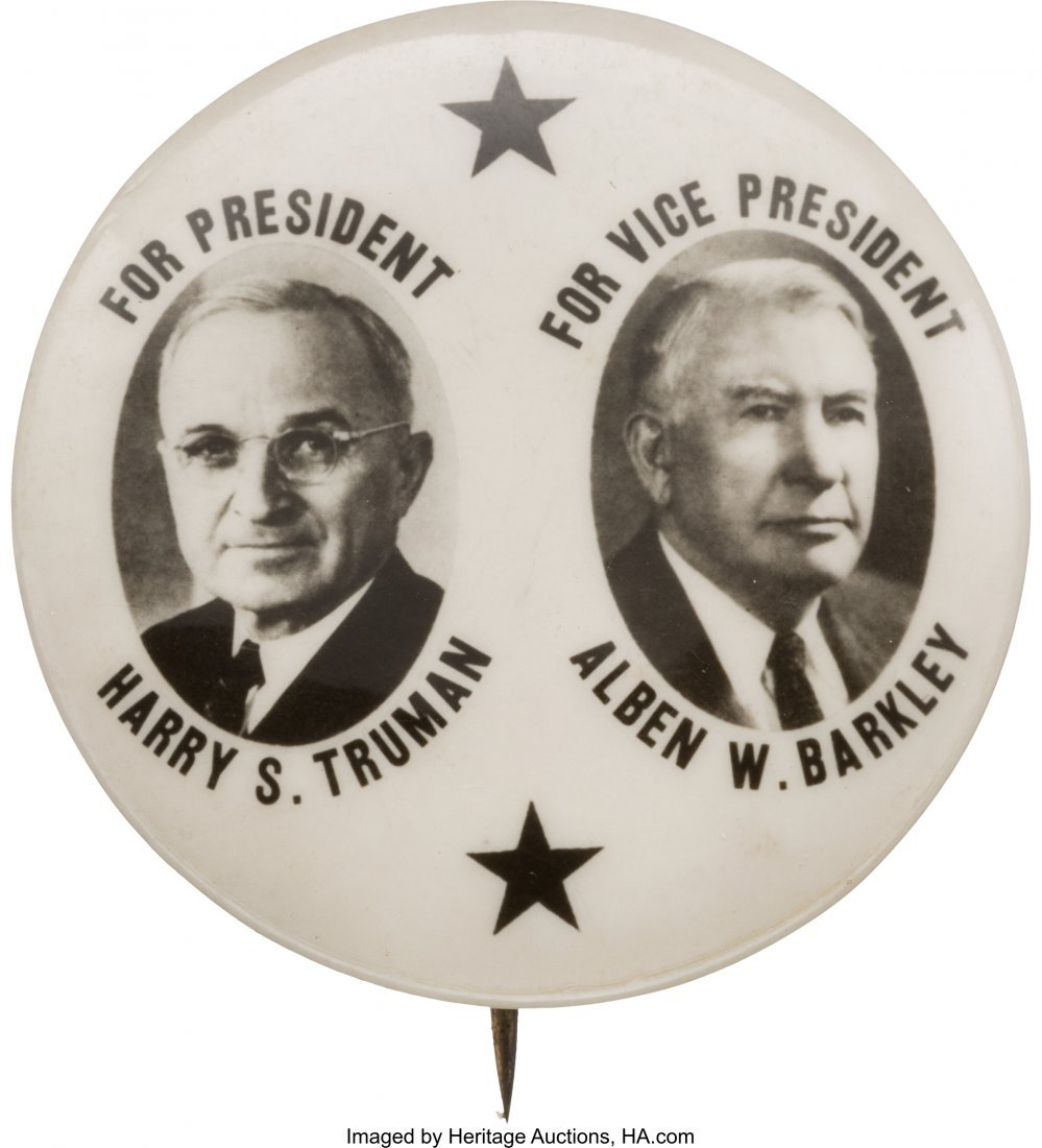 43617: Truman & Barkley: Emress Real Photo Jugate. Popu