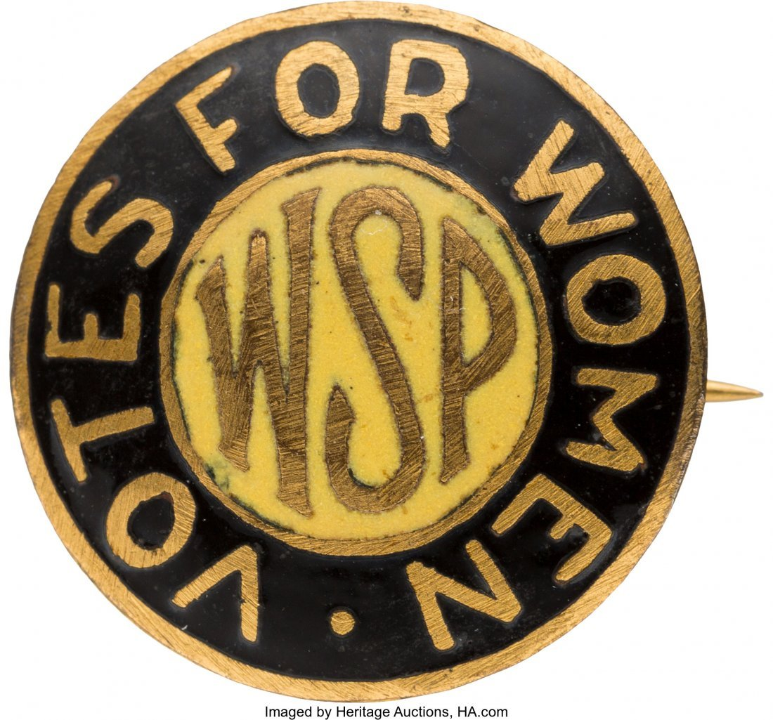 43528: Woman's Suffrage: Rare Woman Suffrage Party Enam