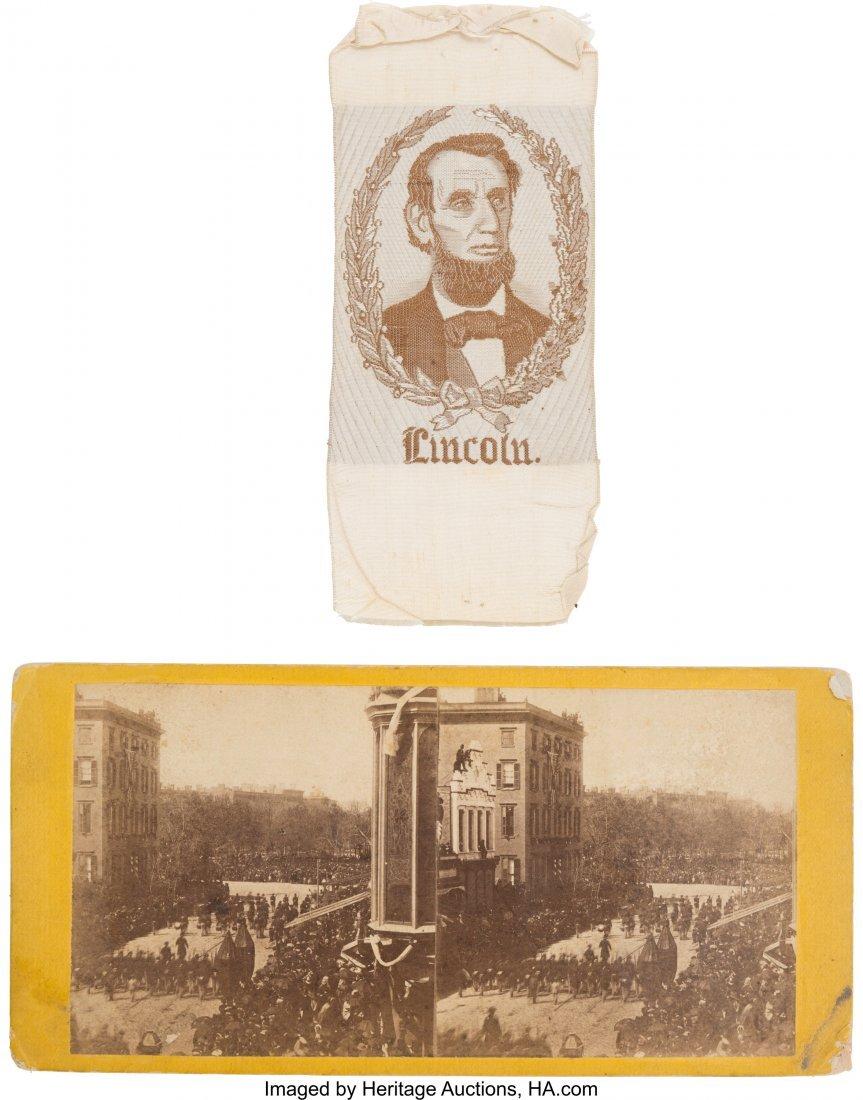 43190: Abraham Lincoln: 1864 Sanitary Fair Portrait Rib