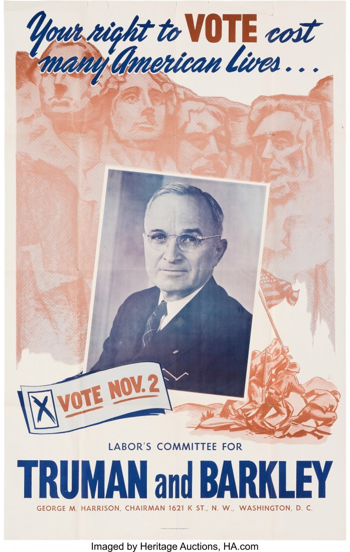 """43622: Harry S. Truman: """"Number One"""" Truman Poster from"""