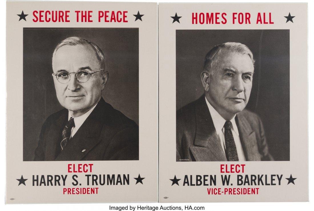 43623: Truman & Barkley: Matching Portrait Posters. Pai