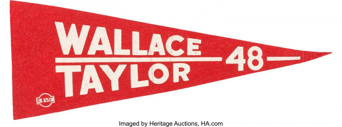 43626: Henry A. Wallace: Rare Progressive Party Pennant