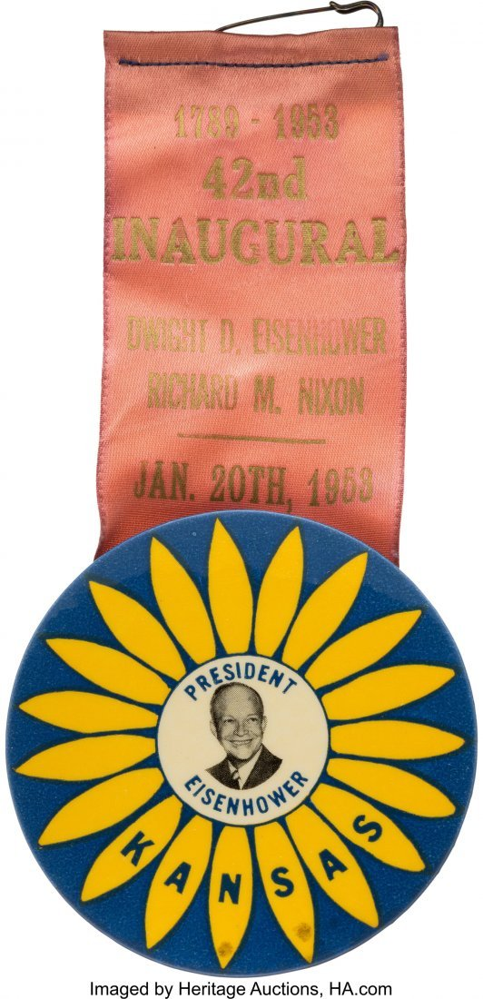 43629: Dwight D. Eisenhower: 1953 Inaugural Badge with