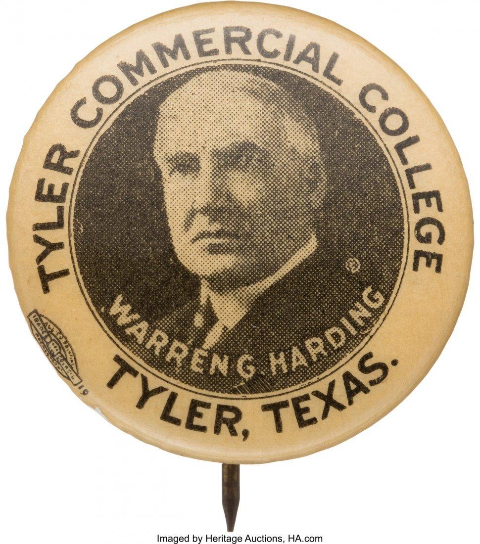 43541: Warren G. Harding: Ultra Rare Tyler, Texas Pictu
