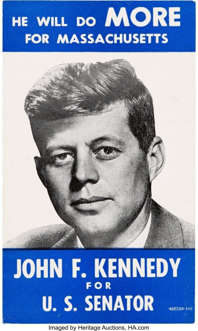 43639: John F. Kennedy: 1952 Senate Campaign Card.  Pri