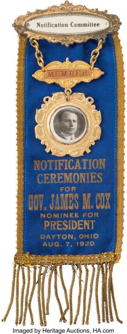 43548: James M. Cox: Drop-Dead Gorgeous Ribbon Badge Wo
