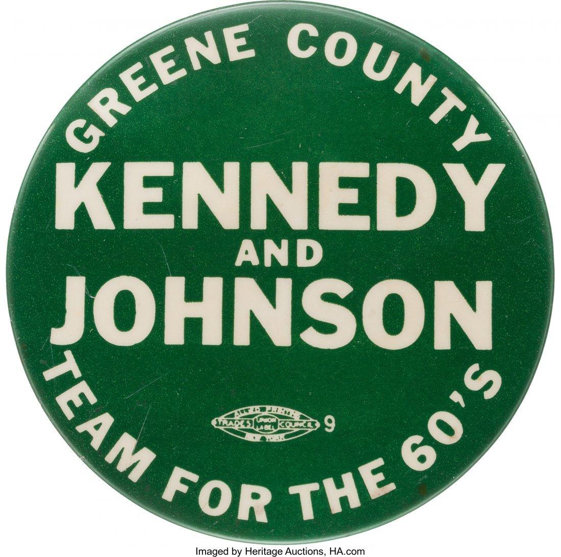 43640: John F. Kennedy: Rare Limited Issue Slogan Badge