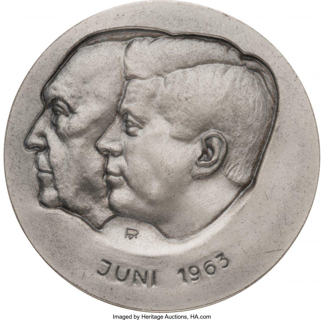 43644: John F. Kennedy: Jugate Kennedy & Adenauer Medal