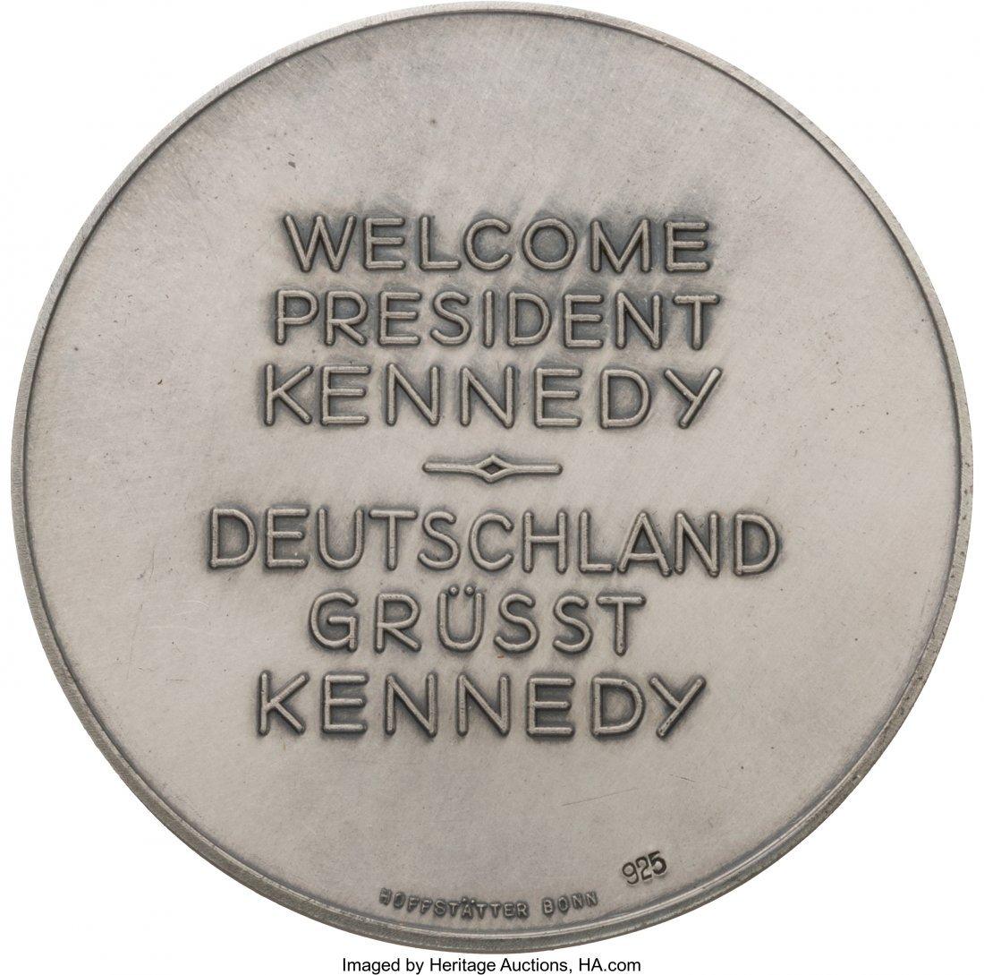 43644: John F. Kennedy: Jugate Kennedy & Adenauer Medal - 2