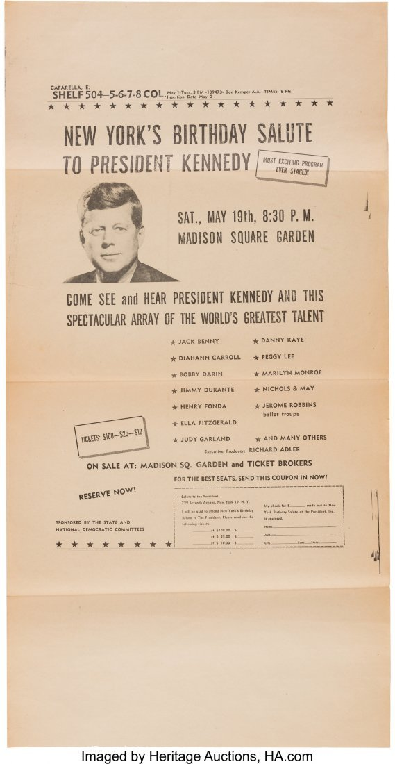 43646: John F. Kennedy: Proof Sheet for Full Page Newsp