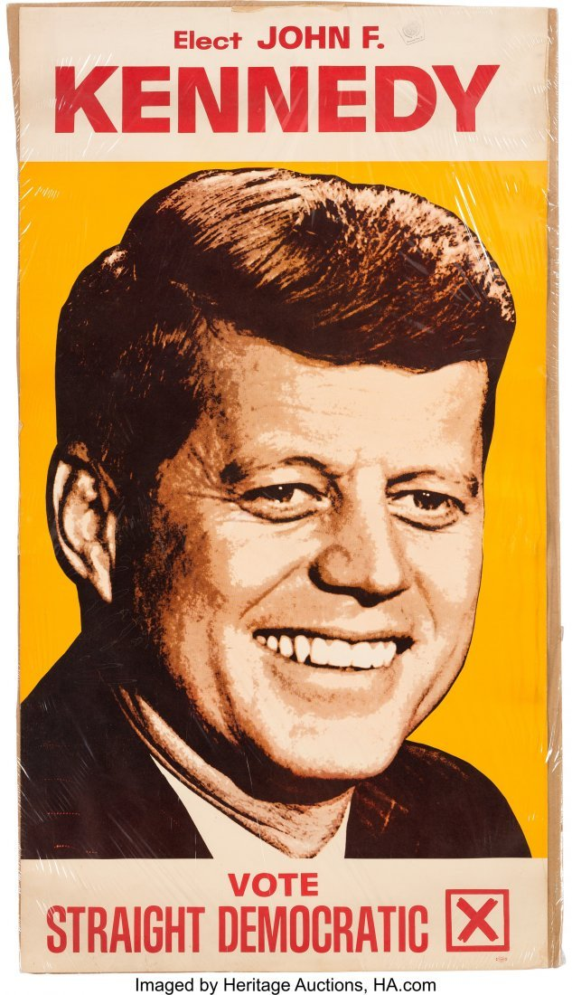43650: John F. Kennedy: Rare, Large Color Portrait Post