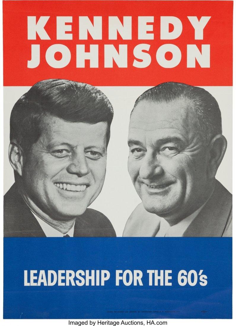 "43652: Kennedy & Johnson: Jugate Poster. 13"" x 18"" post"