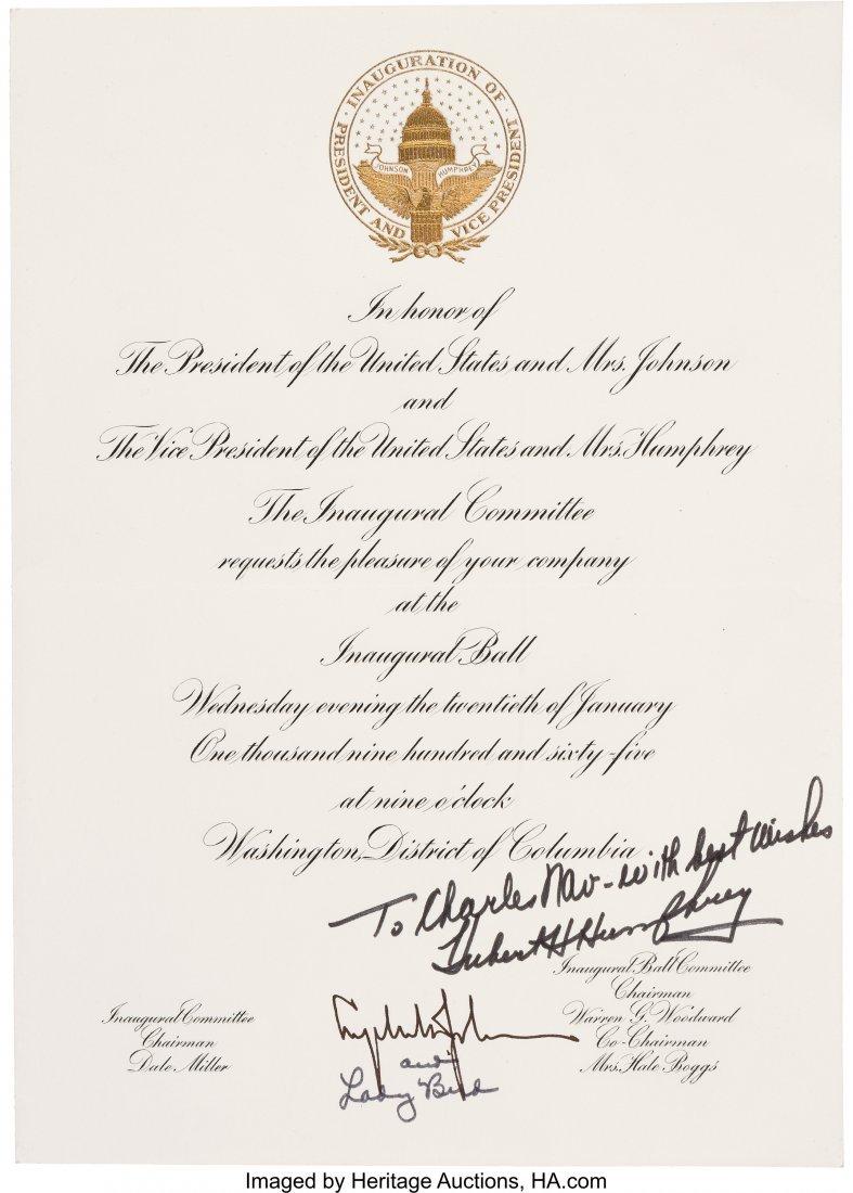 43654: Lyndon B. Johnson: An Official Inaugural Ball In