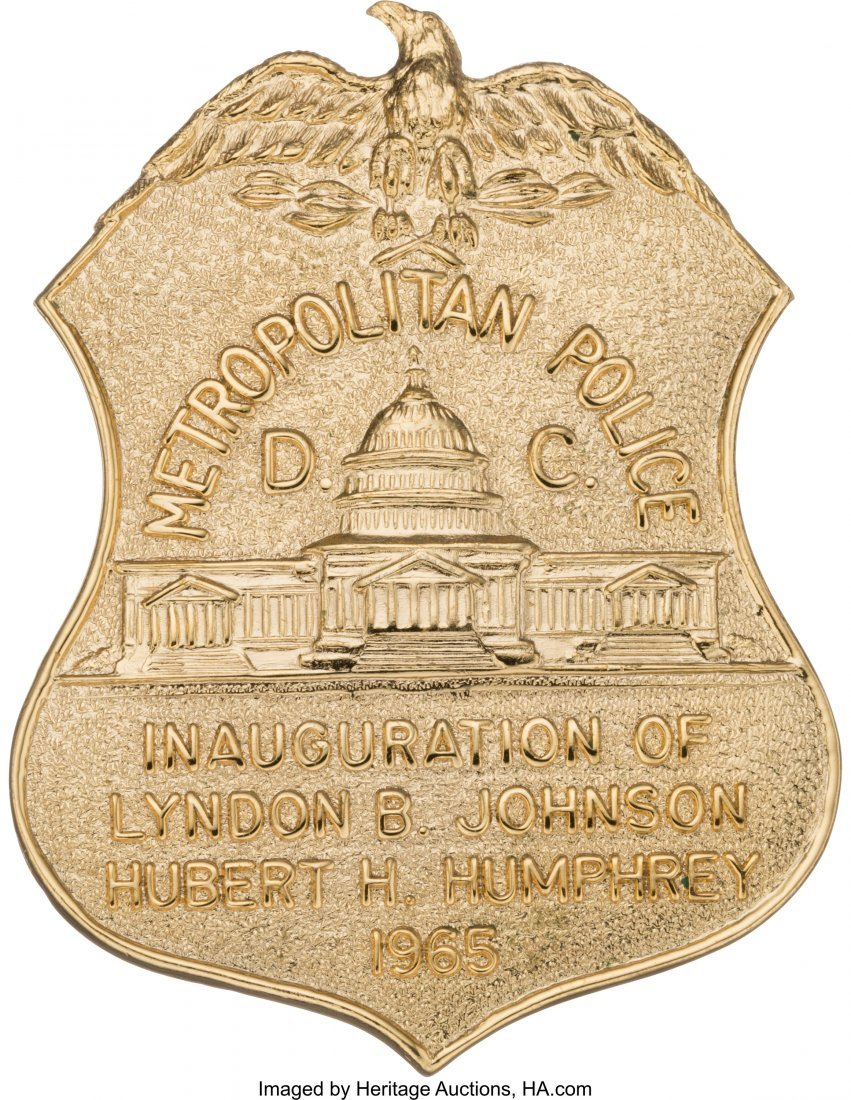 43655: Lyndon B. Johnson: Metropolitan Police Inaugurat