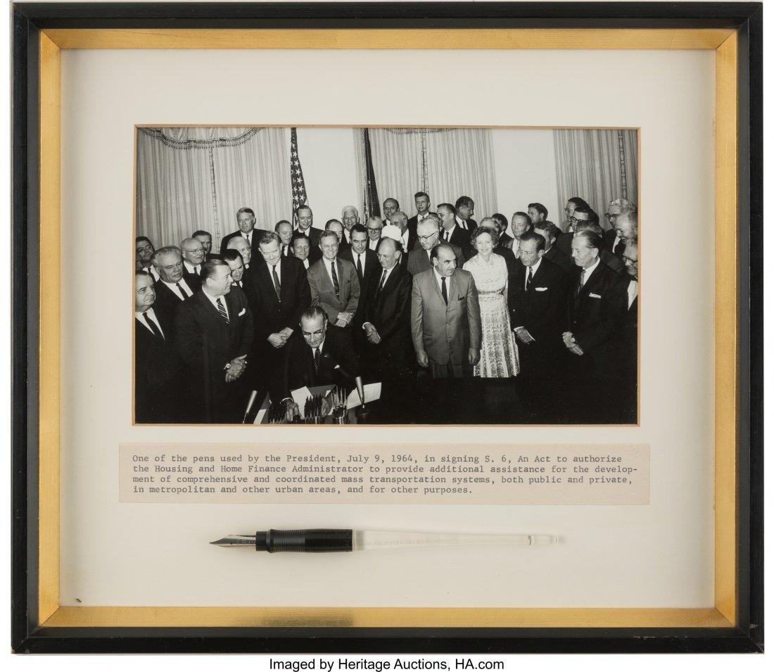 43656: Lyndon B. Johnson: Important Official Bill Signi