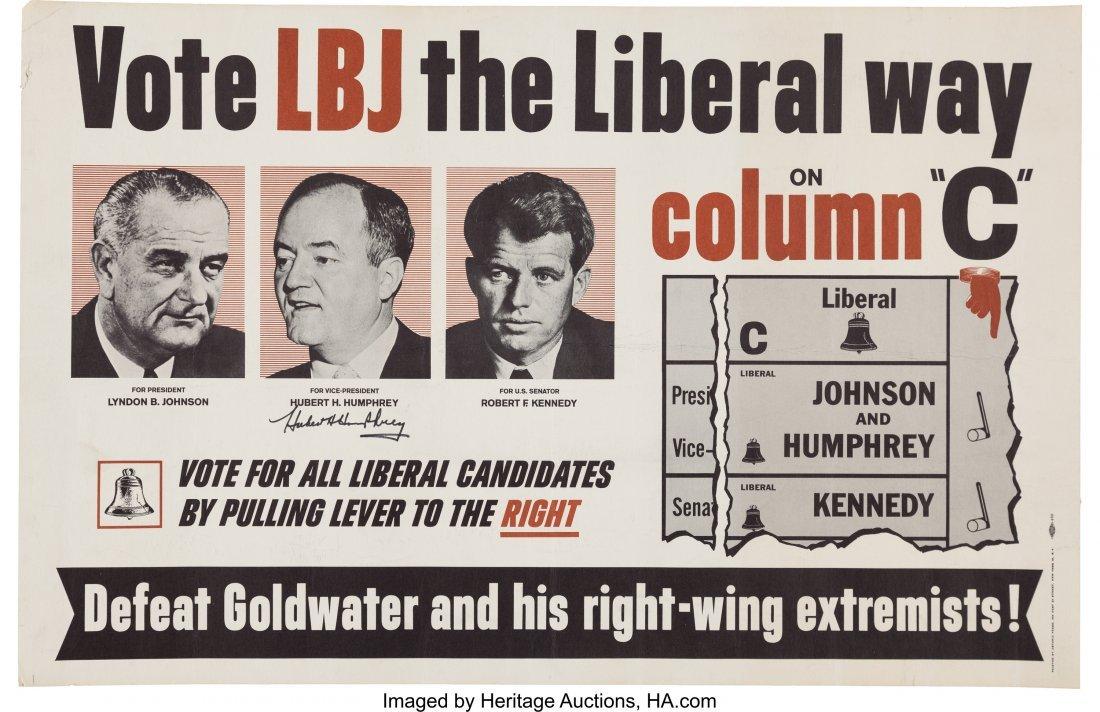 43657: Johnson, Humphrey & Robert Kennedy: Liberal Part