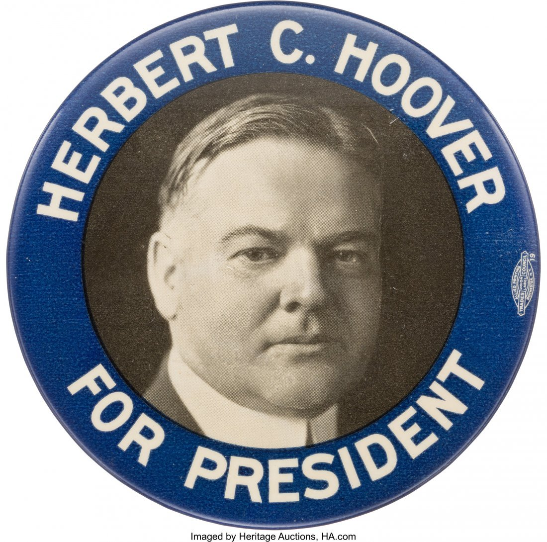 43565: Herbert Hoover: Large Bastian Brothers Picture P
