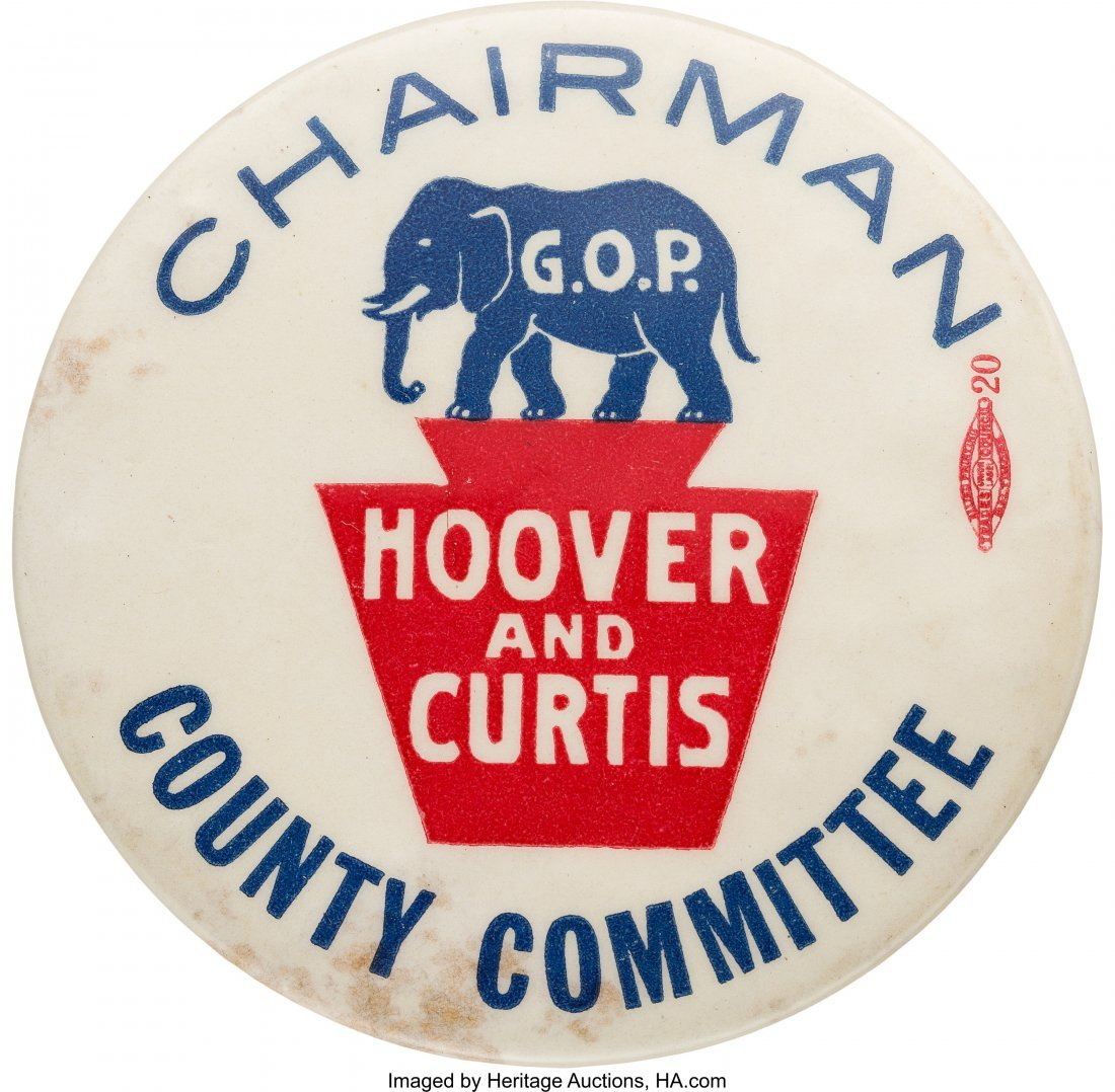 """43568: Herbert Hoover: Possibly Unique Large """"Chairman"""""""